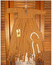 Primitive Decor Wall Dress Orange & Black Raggedy Witch, Hag Halloween,Grungy