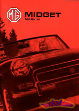 MIDGET OWNERS MANUAL MG 1974 HANDBOOK DRIVERS GUIDE BOOK MARK III MK 3 MG MIDGET