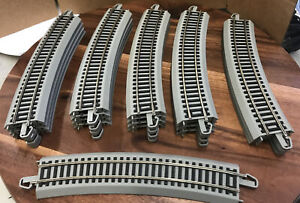 "Lot of 21 HO Bachman 22"" R 22.5 degree Curve Nickel Silver E-Z Track Preowned"
