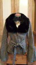 FORNARINA Wool Jacket   Stylischer Damen Blazer  Kunstfellkragen - Gr.S/M