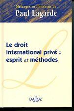 Droit international privé, esprit et méthodesMélanges