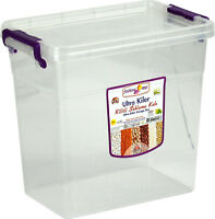 Clear Transparent Plastic Storage Container Box with Clip Lid 6.8L