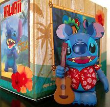 "DISNEY VINYLMATION 3"" HAWAII LILO & ""STITCH"" BLUE ALIEN GUITAR VINYL TOY FIGURE"