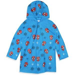 Spiderman Marvel Pattern Boys Rain Coat Hooded Poncho Waterproof Jacket 2-8 yrs