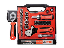 "Powerfix Profi ¼"" Socket Set + Ratchet Screwdriver & bits + Wrench , 40 Pcs SET"