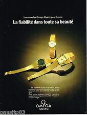 PUBLICITE ADVERTISING 055  1978  OMEGA  montre quartz pour femme