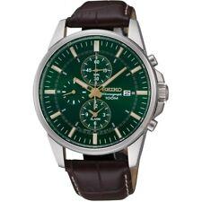 Seiko Gents Alarm Chronograph Watch   SNAF09P1-NEW