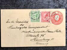 ALT ENGLAND echt gelaufener Beleg 1913 Newton Abbot -  Hamburg