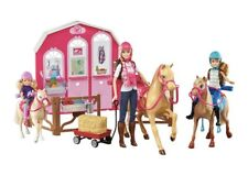 Barbie Horse Ranch Pink Passport Playset with Barbie Stacie and Chelsea Doll New