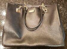 Kate Spade Briel Large Smooth Leather Shoulder Tote Bag Gold Chain Link Black