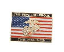 US United States Usmc Marine Corps The Few The Proud Small Metal Badge Pin