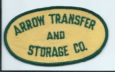 Arrow Transfer and Storage truck driver patch 2-1/2 X 4-1/2 $1886