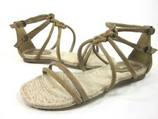 f1d49db751d3 Maxstudio Womens Sear Espadrille Sandal Grigio Leather US Size 6 EUR 36  Medium