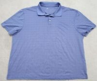 Haggar Polo Shirt Polyester Solid XXL Blue Black Short Sleeve 2XL Men's Man Top