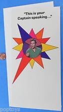 Activity BIRTHDAY CARD '76 vintage KIRK figure 5X10 inches closed STAR TREK