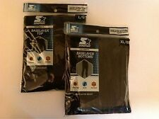 Starter Brand Base Layer Large Top & XL Bottoms New in Package-/Black