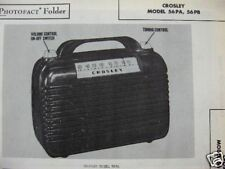 CROSLEY 56PA & 56PB RADIO PHOTOFACT