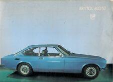 Bristol 603 S2 1977-79 UK Market Foldout Sales Brochure