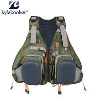 Kylebooker Muiti-pocket Fly Fishing Vest Backpack Bag Adjustable Size Mesh Pack
