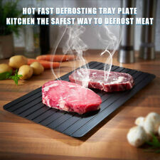 Hot Fast Thawing Defrosting Tray Kitchen Thaw Frozen Meat Magic Metal Plate