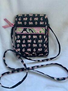 Vera Bradley Mini Hipster Pink Elephant Shoulder Bag Purse small Free Shipping