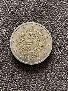 Pièce commémorative 2 euros 2002-2012 République française Rare