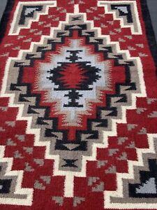 EL PASO SADDLE BLANKET CO Southwestern Wool Polyester Area Rug