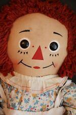 Vintage Raggedy Ann Doll, 25 IN Tagged, Original Costume, Large Raggedy Ann Doll