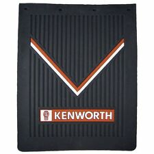 "Kenworth Motors 24"" x 30"" x 1/4"" Thick Rubber Black Semi Truck Mud Flaps-Set"