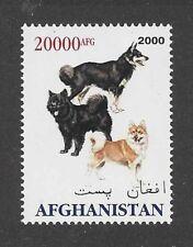 Dog Art Full Body Portrait Postage Stamp ICELANDIC SHEEPDOG Afghanistan 2000 MNH