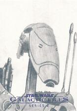 Star Wars Galactic Files Series 2 Sketch Card Battle Droid