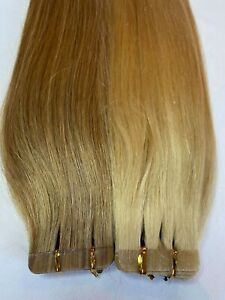"""TAPE IN HAIR HUMAN REMY HAIR EXTENSIONS 0.5G 18"""" REGALHAIR BEST ON EBAY straight"""