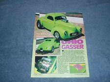 "1940 Willys Coupe Vintage Article ""Ohio Gasser"""