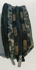 LESPORTSAC 2 Zip Kevyn Cosmetic Makeup Pencil Travel Case Bag Animal Print