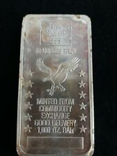 10 Troy OZ. .999 SILVER BAR Minted from COMMODITY EXCHANGE 1000 OZ BAR
