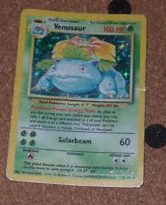 Venusaur - Holo Rare - Base Set Pokemon Card - # 15/102