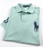 Ralph Lauren Polo Shirt Men's Custom Slim Fit Sunset Green Big Pony RRP £119