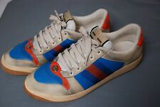 """worn once $870 GUCCI distressed men's """"Screener"""" sneakers shoes sz 11 / US 12"""