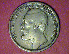 Sweden:  1876 ST  1 Krona VF KM#741 ~Very Nice!~