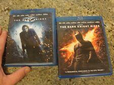 BATMAN lot 2 DARK KNIGHT RISES and d k dvd blu ray heath ledger bale caine