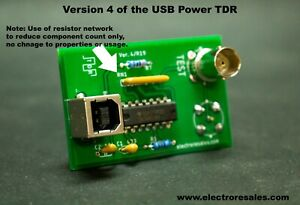 TDR Time Domain Reflectometer. Fast Clock, USB Power. Detect cable faults & More