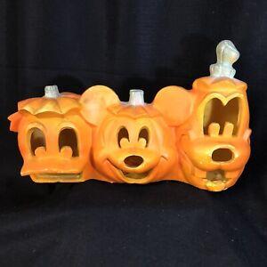 Disney Mickey Mouse Donald Goofy Light up Jack O Lantern Pumpkin Halloween Works