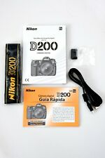 Nikon D200 manual with Quick Start Spanish version with extras