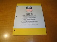 UNION PACIFIC RAILROAD DENVER AREA TIMETABLE #4 NOV 16 2009 MINT BIN $8.99