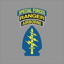 US Army Special Forces Ranger Airborne Wall Window Vinyl Decal Sticker Military