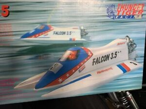 Thunder Tiger Falcon radio controlled nitro boat kit ! Rare !