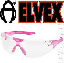 Elvex Avion Pink CLEAR SMALL Slim Safety Glasses Women Shooting Z87+