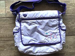 Gap Kids Pale Purple Butterfly Lightly Padded Book Shoulder Messenger Bag Girls