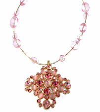 Mixed Metals Beauty Crystal Costume Necklaces & Pendants