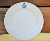 "VTG 8"" Wembley Ware Salad Plate w Blue Royal Australian Air Force Insignia"